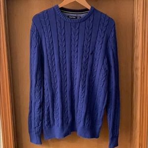 Nautica Men's 100% Knit Sweater Pullover Large